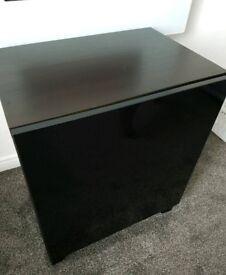 Black/dark brown storage unit