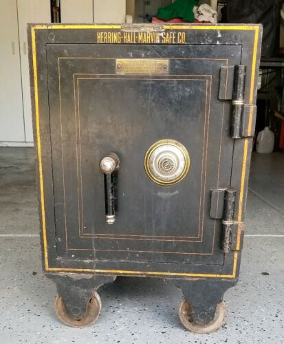 Antique Herring Hall Marvin Safe Co Floor Safe 2nd vault inside Hamilton Ohio