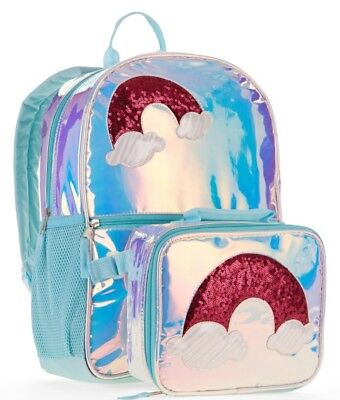 Wonder Nation Metallic Rainbow Backpack With Matching Lunchbox - Backpack With Lunchbox