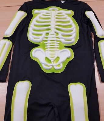 Halloween Costumes For Boys Age 11 Scary (Children's Skeleton Fancy Dress Costume Halloween with Mask Aged)