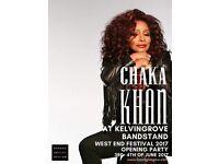 Chaka Khan @ Kelvingrove Bandstand X 2 tickets