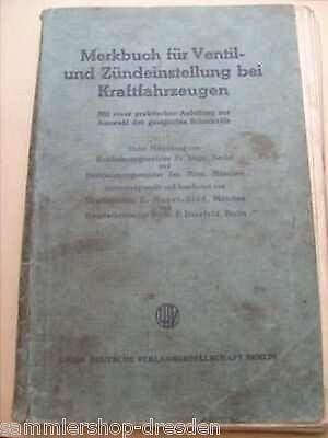 Mayer Sidd Merkbuch für Ventil- und Zündeinstellungen bei Kraftfahrzeugen