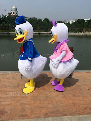 Disney Cosplay Donald & Daisy Duck Mascot Costume Dress Cartoon Adults Outfit us