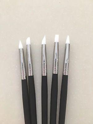 Dental Adhesive Composite Resin Cement Porcelain Teeth Silicone Brush Pen 5 Pcs