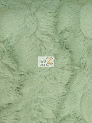 RABBIT SNUGGLE MINKY FABRIC - Serge Green - BY THE YARD BABY BLANKET ULTRA SOFT  for sale  Shipping to India