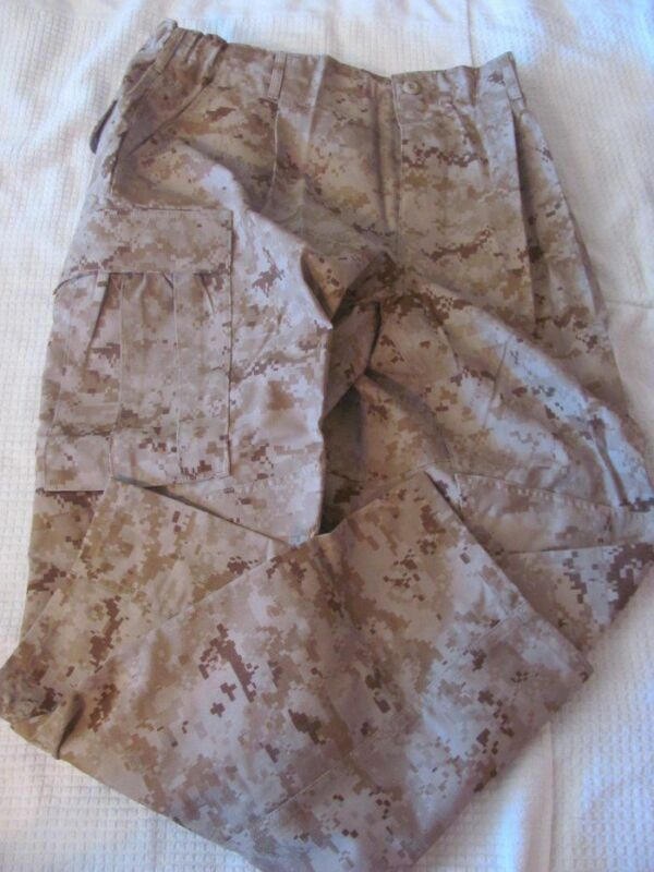 """NWT USMC DESERT  FROG PANTS """"MDST"""" """"MANPOWER DECISION SUPPORT TOOL"""" : LL     *"""