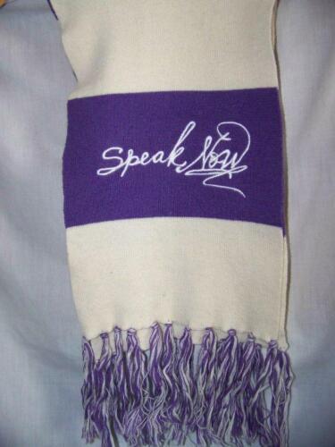 Rare Collectible Taylor Swift Speak Now Soft 60 Purple/White Winter Scarf - $12.50