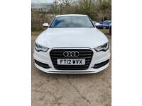 Ibis White Audi A6 Saloon 2.0 TDI S Line Multitronic 4dr. Free MOT test for life of car with Audi