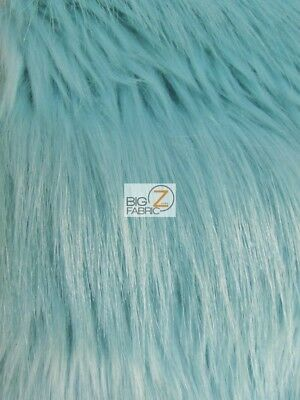 RAVEN BIRD SHAGGY FAUX FUR FABRIC - Aqua Glaze - BY THE YARD COSTUME CLOTHING