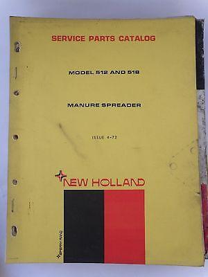 New Holland Service Part Catalog 512518 Manure Spreader