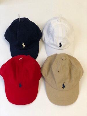 New Ralph Lauren Infant Boys/Girls Classic Cotton Chino Baseball Pony Cap Hat
