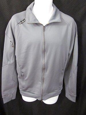 RLX Ralph Lauren Gray Knit Zip Jacket Warm-Up Size XL X-Large Knit Warm Up Jacket
