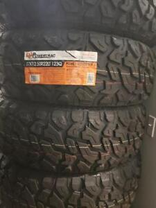 37X12.50R22 BRAND NEW POWERTRAC MUD TERRAIN TIRES 37 12 50 22 LT 37X12 50R22 M/T 35 INCH 10 PLY 37 12 5R22 37 1250 22