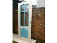 3 Interior Wood Doors with glass panes for sale in reasonable condition