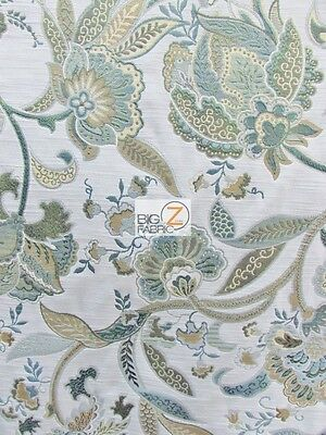 GARDEN OF EDEN FLORAL UPHOLSTERY FABRIC - Meadow - BY YARD SOFA DRAPERY DECOR