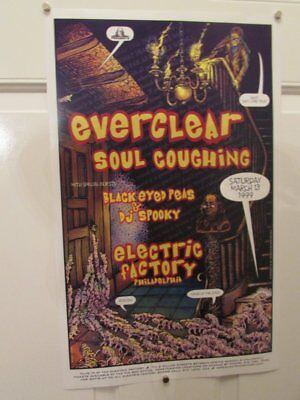 1999 Black Eyed Peas Everclear Soul Coughing Rock   Roll Gig Concert Poster