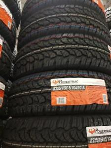 LT235/75R15 BRAND NEW SET ALL SEASON TERRAIN TIRES 6 PLY POWERTRAC 235/75R15 WHEELS 235 75 15 LT