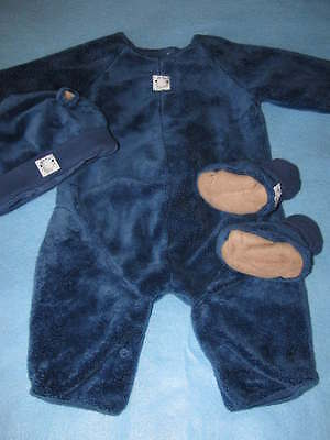 NWT Anne Geddes Baby Boys Bear Outfit Suit Set 6-12 Months Halloween](Anne Geddes Halloween Baby Costume)