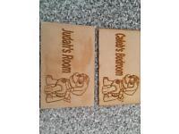 Personalised wooden door plaque