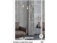 Brooklyn 2 light floor lamp NEW