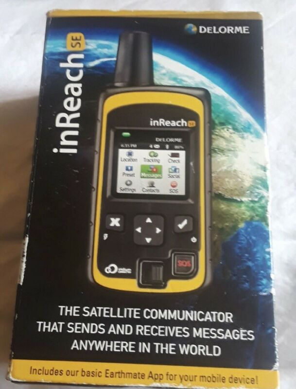 DeLorme InReach SE, Satellite Messenger & GPS Tracker Open Box, Never Been Used.