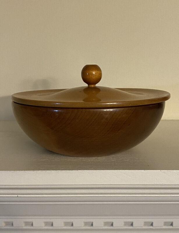 Myrtlewood bowl with lid