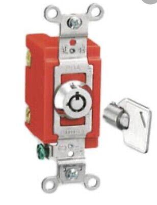 New Hubbell Barrell Key Locking Switch Hbl1223rkl Hbl 1223rkl
