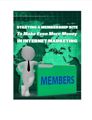 Ebooks Membership Sites Can Earn You Even More Money In Internet Marketing