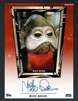 DIGITAL CARD Topps Star Wars Card Trader Mike Quinn Nien Nunb Auto DIGITAL CARD