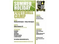 I'm running a football camp this summer at Abbey Rangers!