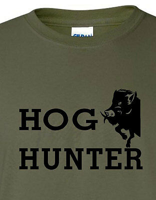 Hog Hunter wild boar hog hunting t shirt 4 colors