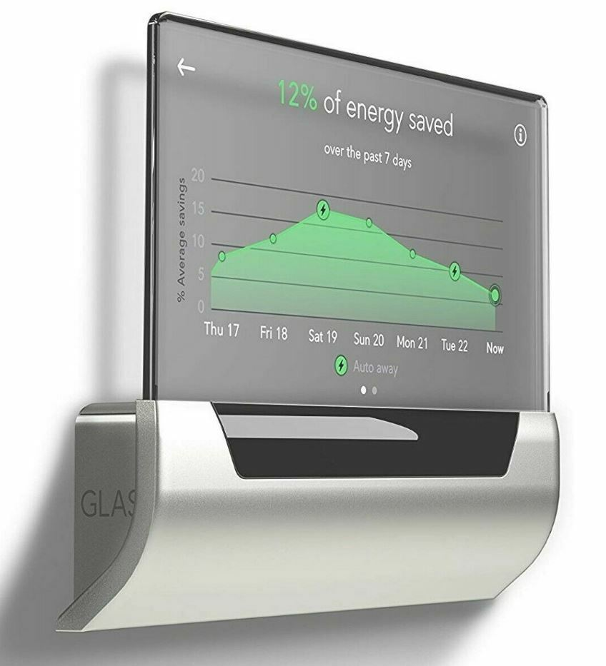 GLAS Smart Thermostat Translucent OLED Touchscreen Wi-Fi Wor