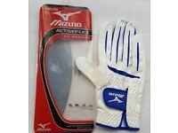 Mizuno Activeflex Leather Gloves Mens Right Hand White/Blue Brand New