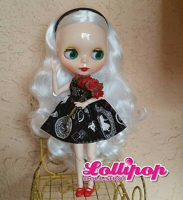 Factory Type Neo Blythe Doll White Hair, Jointed Body, Accessory