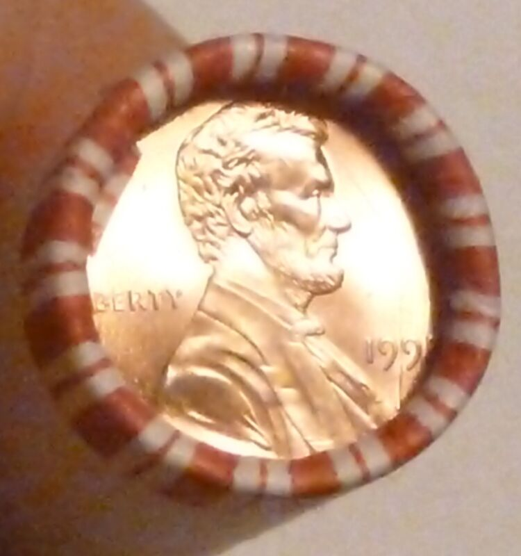 1995P LINCOLN MEMORIAL CENT UNCIRCULATED ORIGINAL PENNY SEALED ROLL N.F. STRING