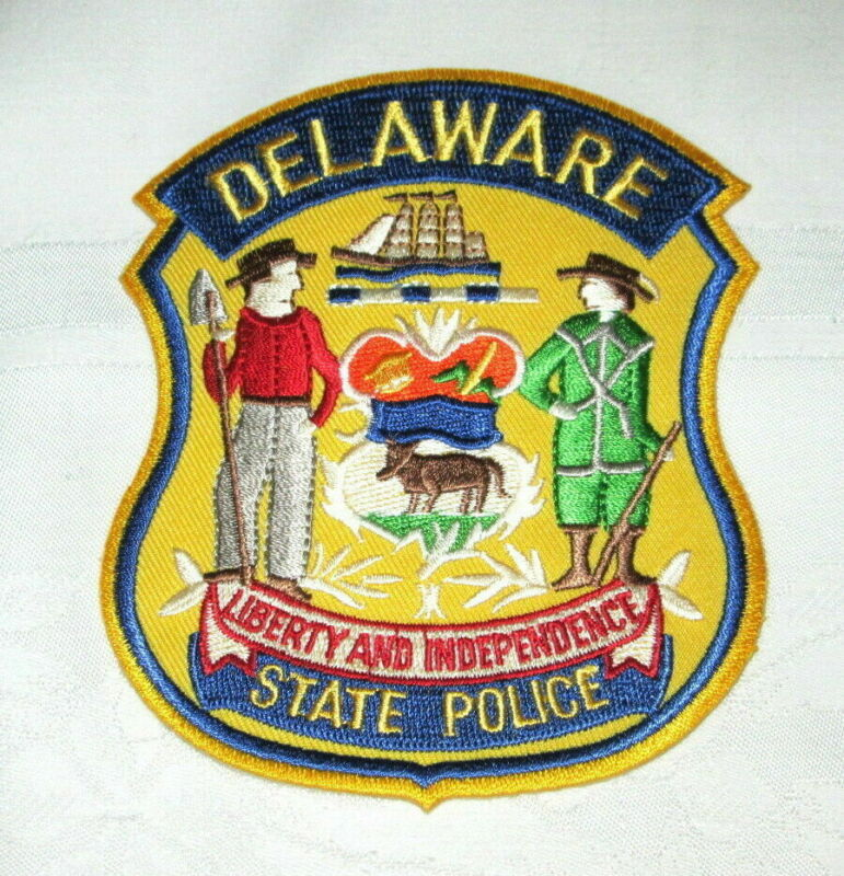 **Large DELAWARE STATE POLICE PATCH - NEW**