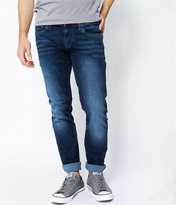 3ac8b8771d1 Pepe Jeans London HATCH Slim Stretch Jeans Top Blue - 30 32 SRP £