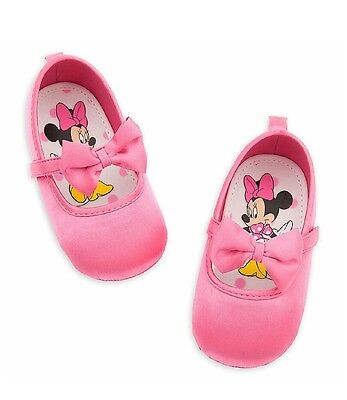 Disney Store Baby Girl Minnie Mouse Halloween Pink Costume Shoes With Bow](Baby Mouse Costume Halloween)