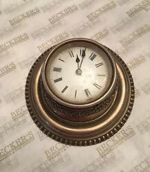 Fancy Antique Tiffany & Co Sterling Silver Desk Clock,  French VAP Movement