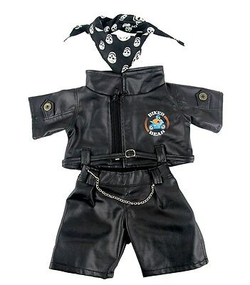 Biker Bear Outfit clothing fits build a plush clothes fit 15in Bears