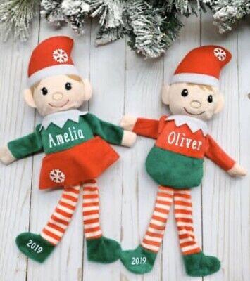 Elf Stuffed Animal (Personalized Elf, Christmas Elves, First Christmas, Plushie stuffed)