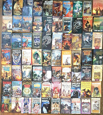 Science Fiction Fantasy Paperback Book Lot INSTANT COLLECTION Free Shipping 5pds