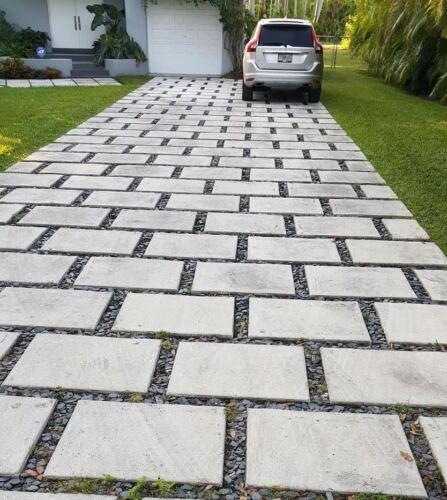 concrete pavers 24x24x2  Driveways patios $20 p/paver . *80 lbs each*