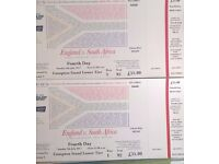 2 x England v South Africa Test Match Cricket Tickets Lords 9th July 2017 - Excellent Seats! £65