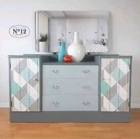 Dressing Table with Mirror grey bedroom furniture