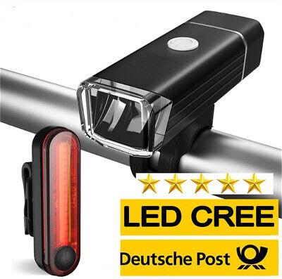 Fahrradlicht Wasserdichte LED Fahrradlampe Scheinwerfer Rücklicht Wasserdicht DE