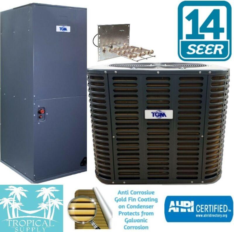 3 Ton 14 Seer AC Split System Condenser & Air handler With Heat Strip