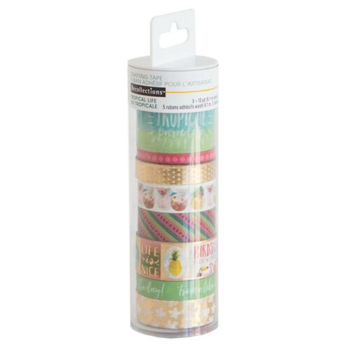 Michaels Recollections Planner Washi Tape Tube set - Tropical Life MIX