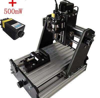Diy Cnc Mini Milling Engraving Machine 3 Axis Carving Engraver 500mw Laser Head