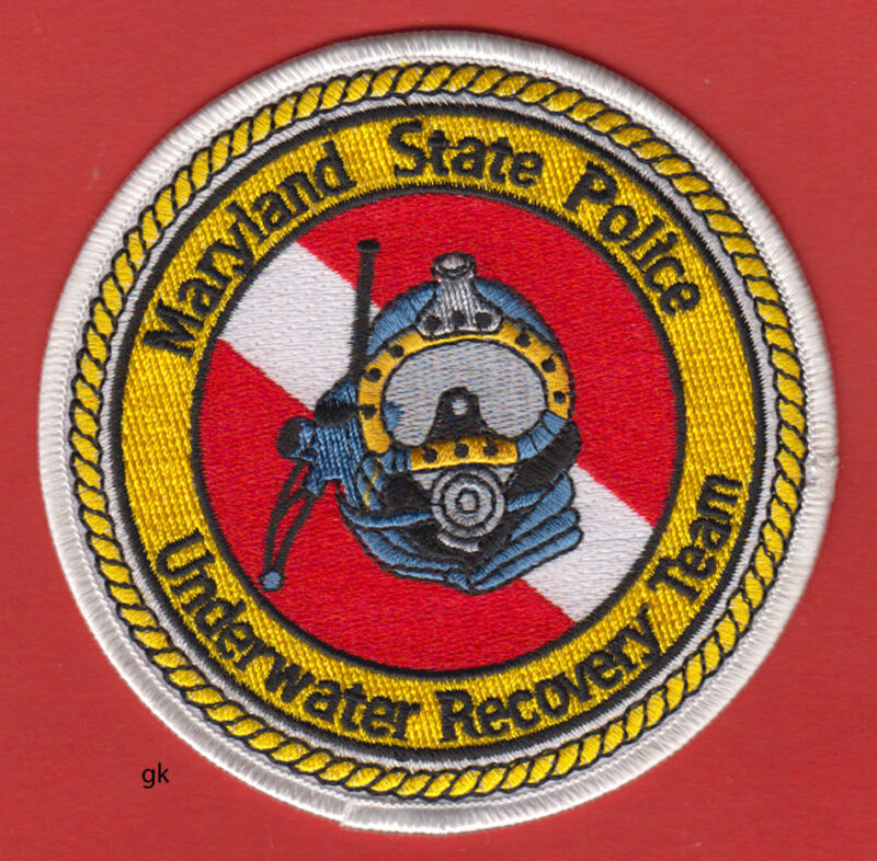 MARYLAND STATE POLICE UNDERWATER RECOVERY  TEAM SCUBA DIVE PATCH